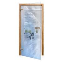 Celoskleněné otočné dveře čiré Azzuro