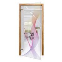 Celoskleněné otočné dveře matné Arcobaleno