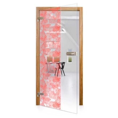 Celoskleněné otočné dveře čiré Pianta