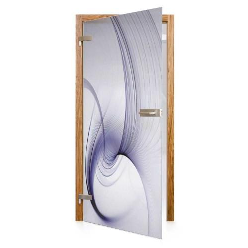 Celoskleněné otočné dveře matné Gorgo