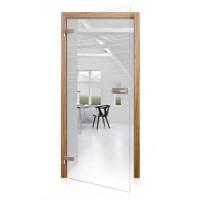 Celoskleněné otočné dveře čiré Alto