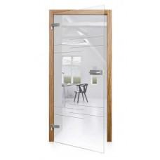 Celoskleněné otočné dveře čiré Barre