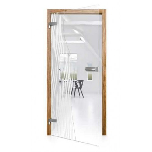 Celoskleněné otočné dveře čiré Fuzione