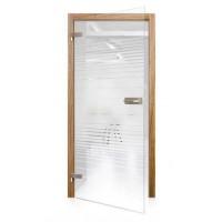 Celoskleněné otočné dveře čiré Lamine