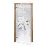 Celoskleněné otočné dveře čiré Margherita