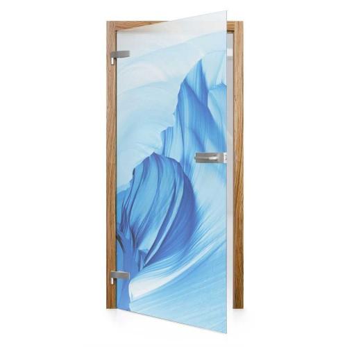 Celoskleněné otočné dveře matné Iceberg