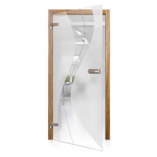 Celoskleněné otočné dveře čiré Passo