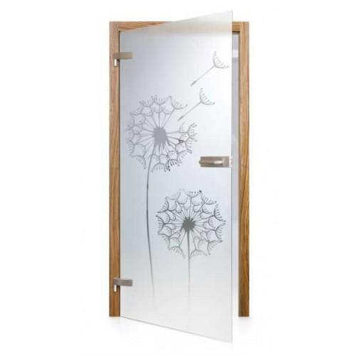 Celoskleněné otočné dveře čiré Tarassaco
