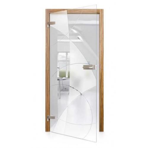 Celoskleněné otočné dveře čiré Vela