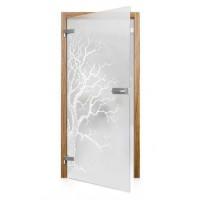 Celoskleněné otočné dveře matné Albero