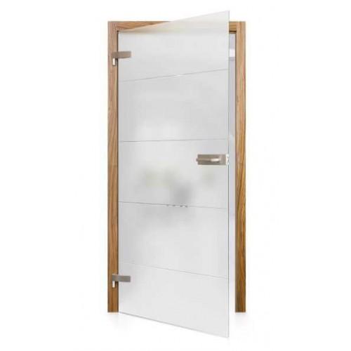 Celoskleněné otočné dveře matné Brusco