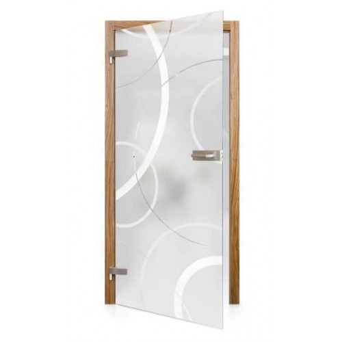Celoskleněné otočné dveře matné Centro