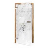 Celoskleněné otočné dveře matné Crosta