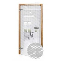 Celoskleněné otočné dveře čiré Cubo
