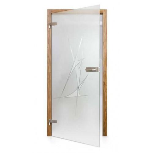 Celoskleněné otočné dveře matné Duello