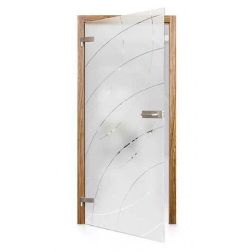 Celoskleněné otočné dveře matné Eco