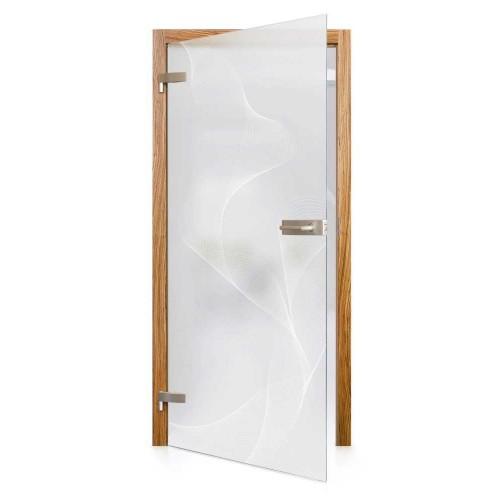 Celoskleněné otočné dveře matné Energia