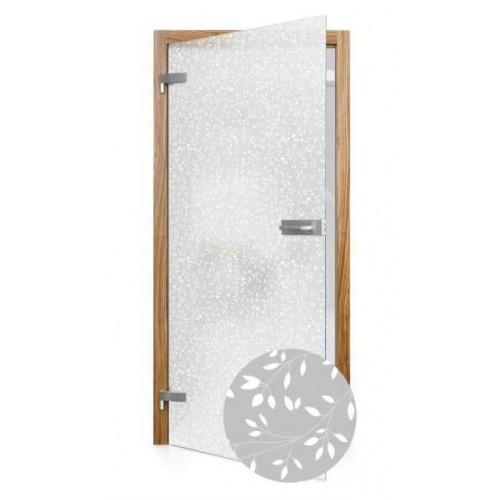 Celoskleněné otočné dveře matné Erba