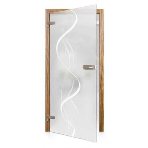Celoskleněné otočné dveře matné Filo