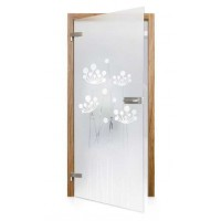 Celoskleněné otočné dveře matné Fiore