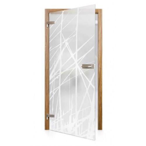 Celoskleněné otočné dveře matné Natura