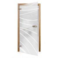 Celoskleněné otočné dveře matné Riflesso