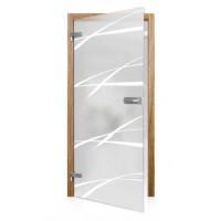 Celoskleněné otočné dveře matné Tacca