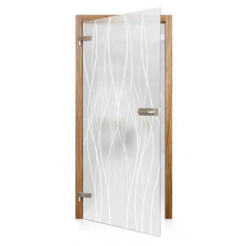 Celoskleněné otočné dveře matné Torrente