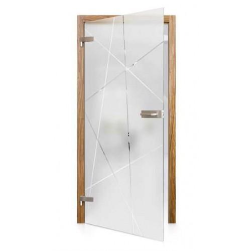 Celoskleněné otočné dveře matné Tratto