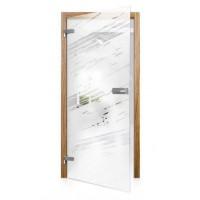 Celoskleněné otočné dveře čiré Travesto