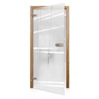 Celoskleněné otočné dveře matné Via