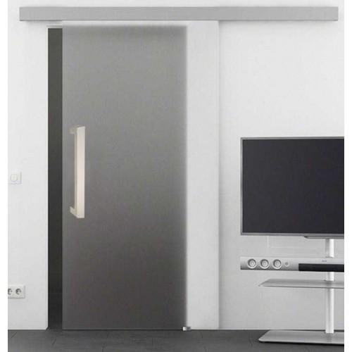 Akční sada posuvné dveře na stěnu celoskleněné SATINÁTO 60/197