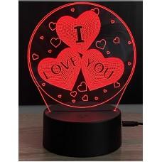 3D stolní lampa DD-015