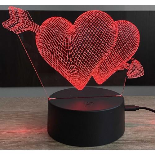 3D stolní lampa DD-019