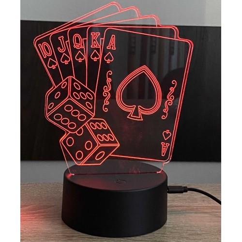 3D stolní lampa DD-090