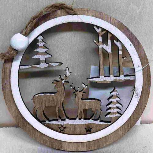 Dřevěná ozdoba Les hnědý