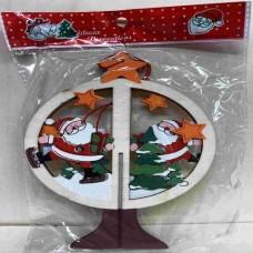 Dřevěná ozdoba Santa barevný