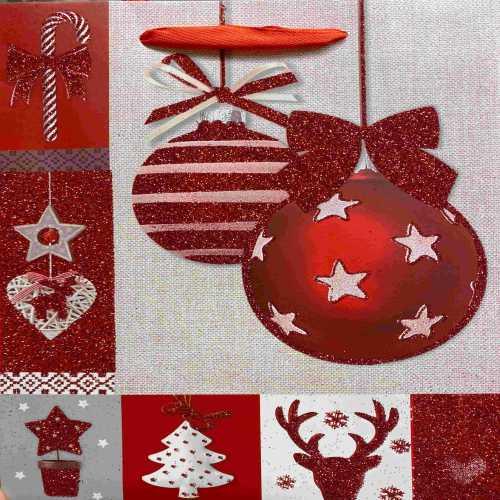 Vánoční taška s dekorem motiv Koule