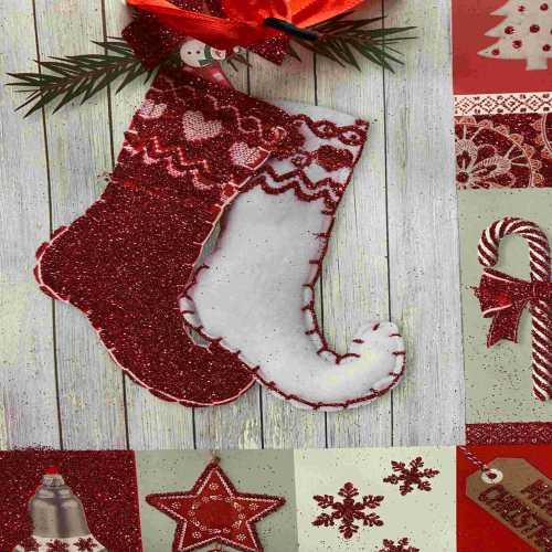 Vánoční taška s dekorem motiv Punčoch