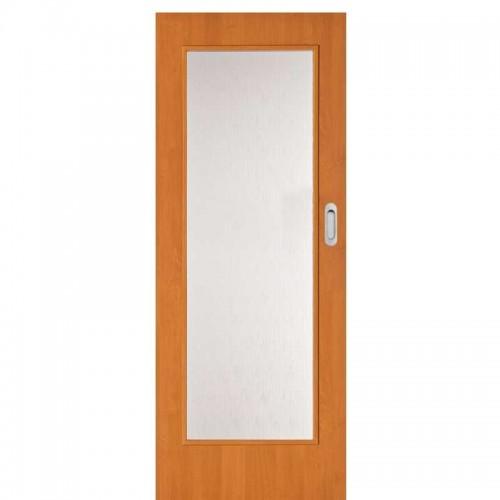 Posuvné dveře na stěnu Prosklenné 4/5 Buk CPL SKLADEM