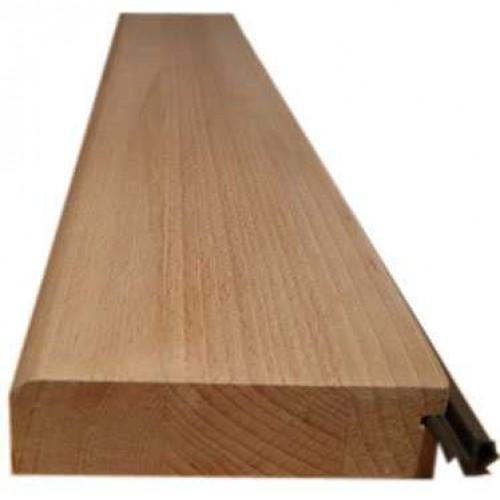 Dřevěný práh BUK s radiusem 5,5x102x2cm 2x ochranný lak, s těsněním