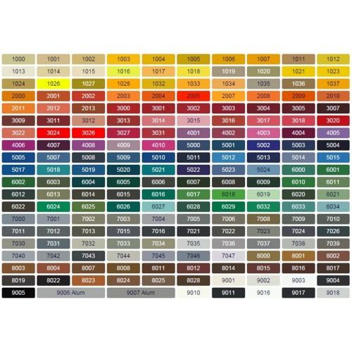 Vzorník barev - povrchy Masonite 2021
