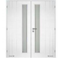 Dvoukřídlé interiérové dveře Masonite - Bordeaux Vertika sklo