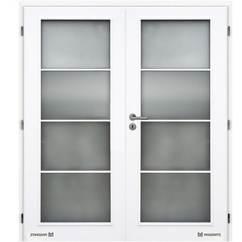 Dvoukřídlé interiérové dveře Masonite - Dakota sklo