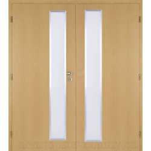 Dvoukřídlé interiérové dveře Masonite - Vertika ALU