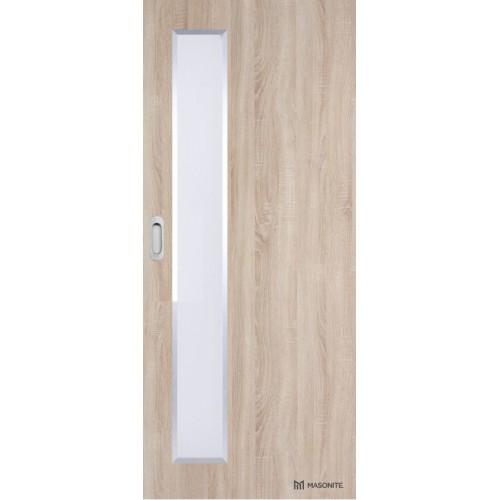Posuvné dveře na stěnu Masonite - Vertika ALU