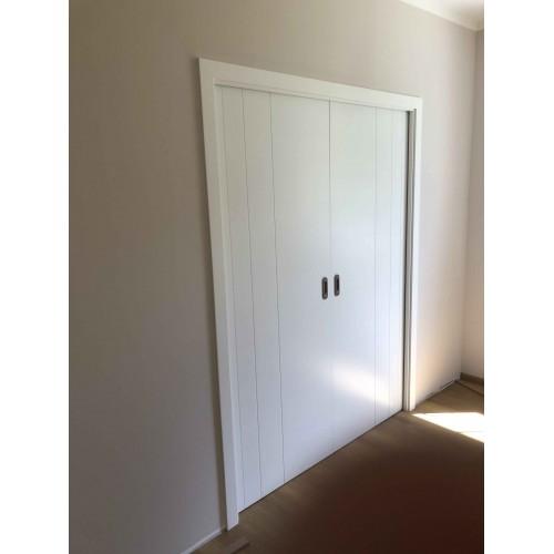 Dvoukřídlé posuvné dveře do pouzdra