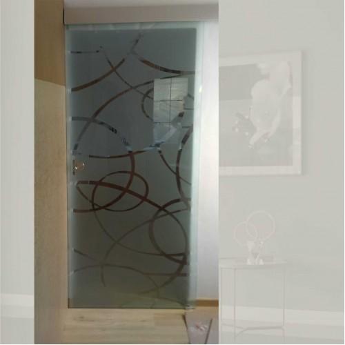 Celoskleněné posuvné dveře na stěnu