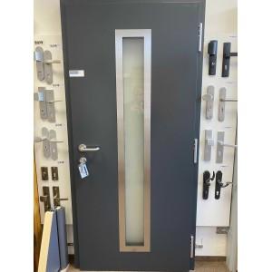 venkovní  ocelohliníkové vchodové dveře