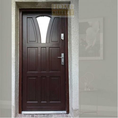 venkovní vchodové dřevěné dveře do domu